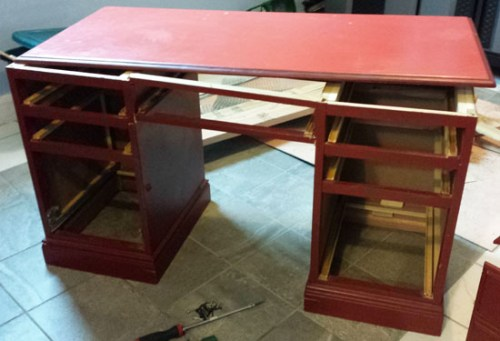 Building A DIY Home Office Desk From An Old Ugly Cheap Desk