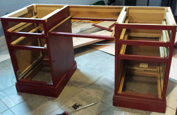 How To Build A Two Person Office Desk. Working On Our DIY Home ...
