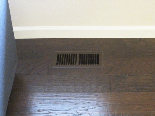 Spray painted vent cover