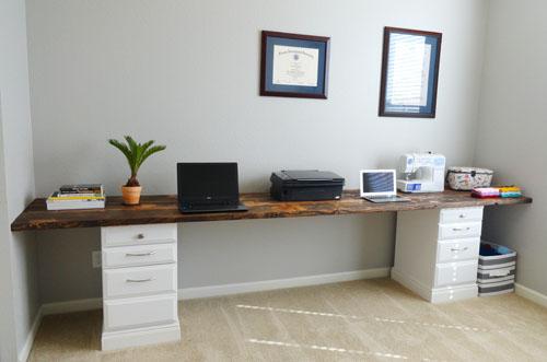 Wood desk tops