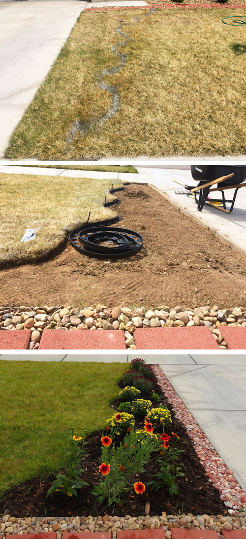 How to plant flower bed in front of house