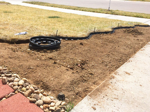 How to do a flower bed