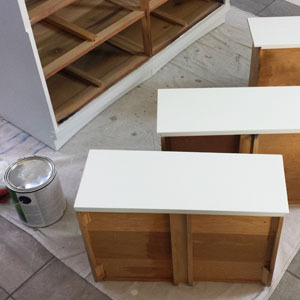How to Refinish an Old Wood Dresser with White Paint