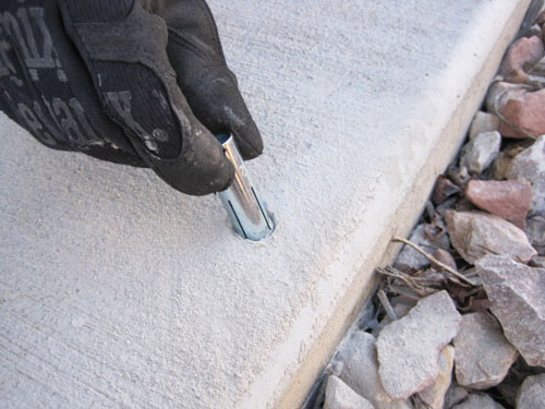 How To Install Sidewalk Bolts
