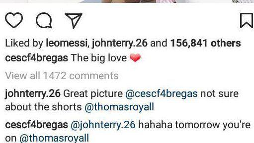 Terry Throw Jab At Fabregas For Kissing Daniella Semaan In Shorts 4