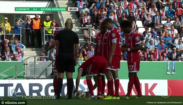 Ribery Cheekily Unties Bibiana Steinhaus's Bootlace Moments Before Smashing In A Free-kick 6