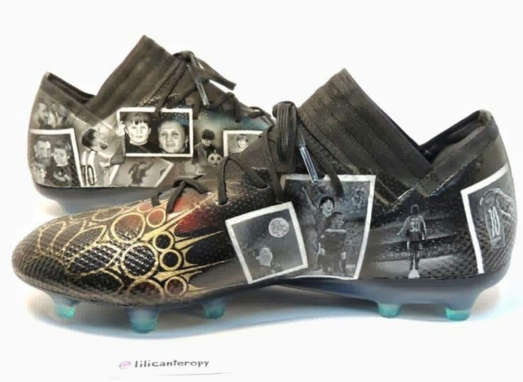 Stroke of Genius : Lili Cantero With A 'Da Vinci' Touch On Lionel Messi's New Boots 11