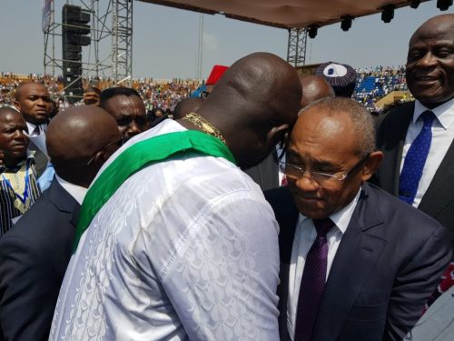 Ahmad, Kwesi Nyantakyi, Amaju Pinnick And Other Top Dignitaries Attend Weah's Inauguration 8
