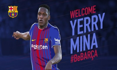 Official! FC Barcelona Secure The Signing Of Yerry Mina For A Reported Fee Of £10.5million 17