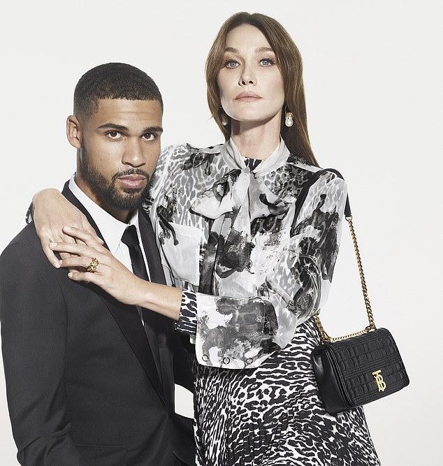 Loftus-Cheek Models Burberry Worth £5,000 - Pose With Nicolas Sarkozy's Supermodel Wife Carla Bruni 6