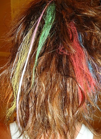hair chalk is great for coloring your hair temporarily at a low cost
