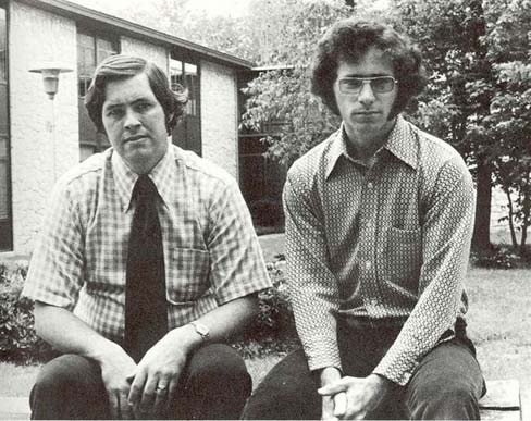 Mike Yates and Bruce Williams in 1972