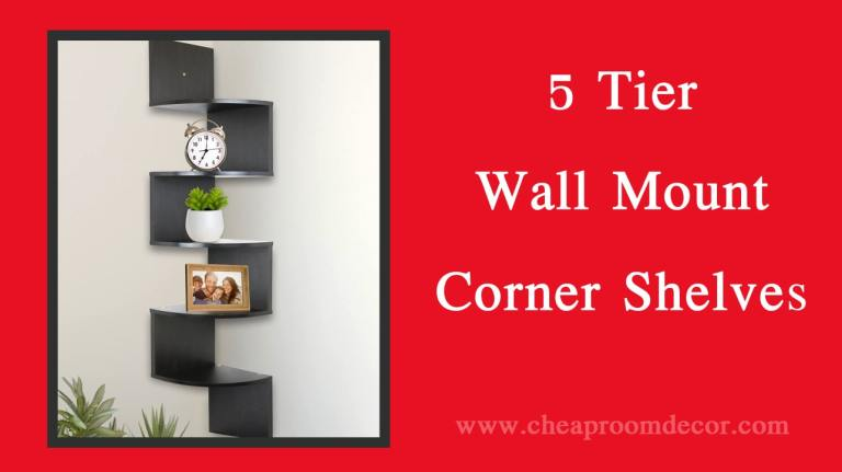 5 tier wall mount corner shelves decorative items for bedroom walls