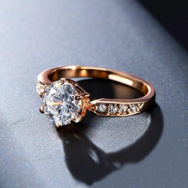Fashion Elegant Wedding Engagement Women Rings