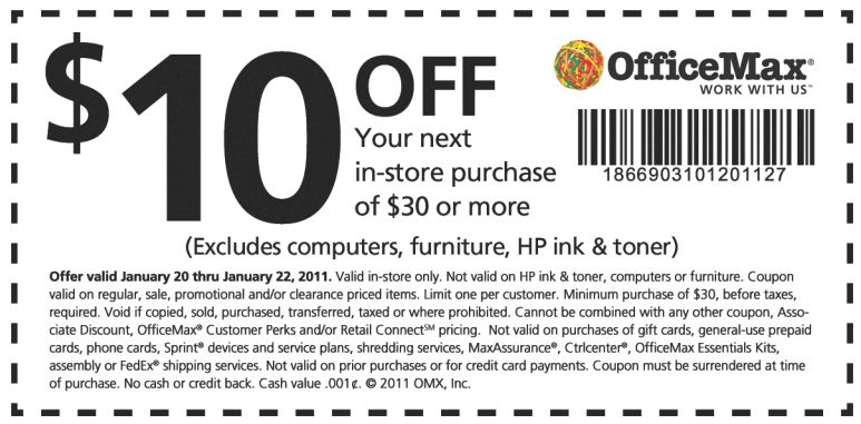 get 10 off 30 purchase printable coupon at office max