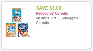 Kellogg's 3.00 off three