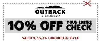 outback ten percent