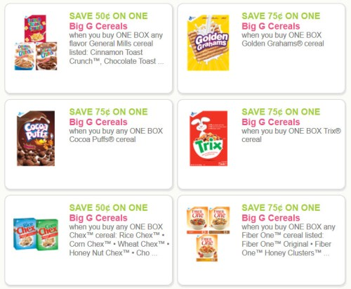 Big G Cereal Coupons