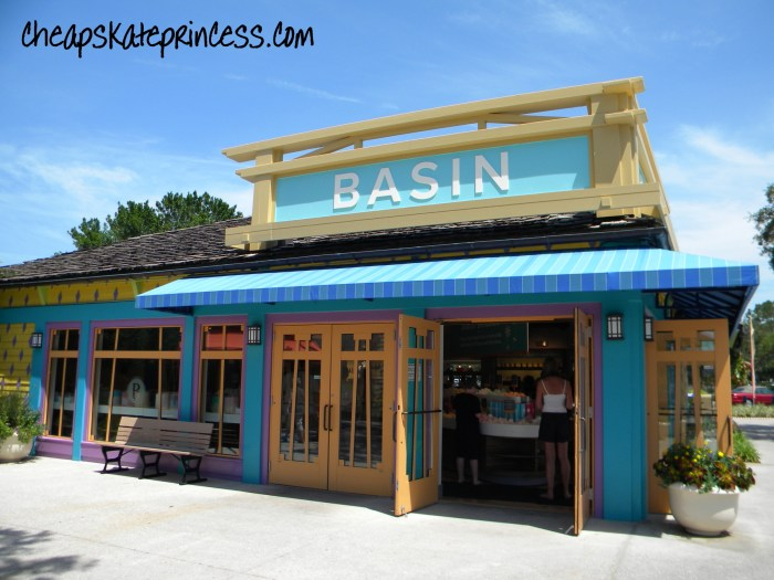where is Basin, where is Basin White, Basin stores, Basin soaps, the cost of Basin soaps, shop at Basin at Disney , Disney Basin, Disney Basin White, Disney soaps, free Disney soaps,