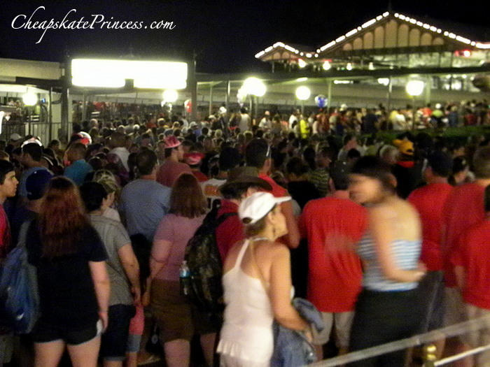 insane Christmas lines to Disney World monorail