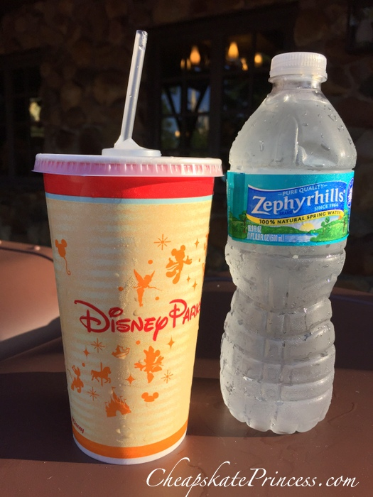 order water for free at Disney World