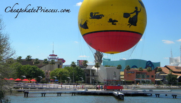 Characters in Flight at Downtown Disney