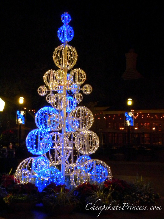 Christmas decorations at Downtown Disney