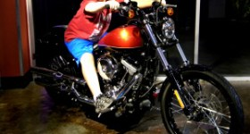 Harley Davidson for kids, kid on a motorcycle