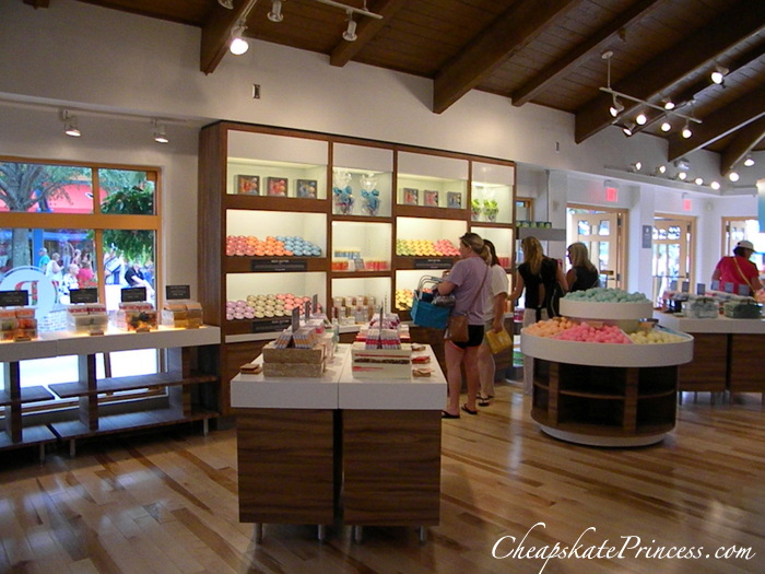 lotion samples at Basin in Downtown Disney
