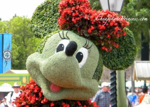 Minnie Mouse, Minnie Mouse flowers, pretty Minnie Mouse, Epcot Minnie Mouse, Epcot flowers