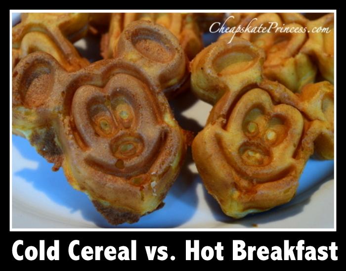 cheap alternatives to breakfast at Disney World