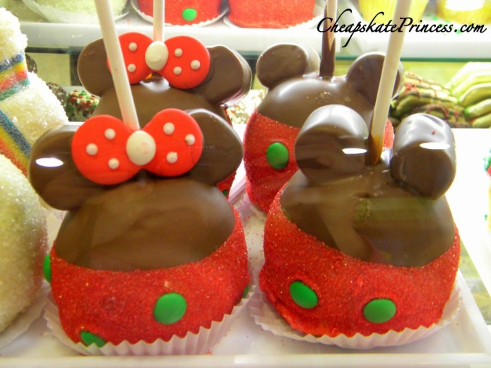 Disney apples, Disney chocolate covered apples, Disney food, Disney snacks, DDP snacks, Disney Dining Plan snacks, best snacks to bring to Disney