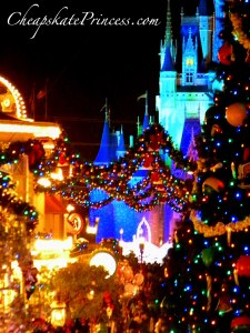 what does Disney look like at Christmas, Disney Christmas, Disney christmas decorations, holiday decorations, huge Christmas tree, tall Christmas tree, Christmas decorations