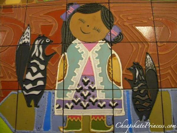 Mary Blair tiles, Contemporary Resort, Contemporary Resort mural,