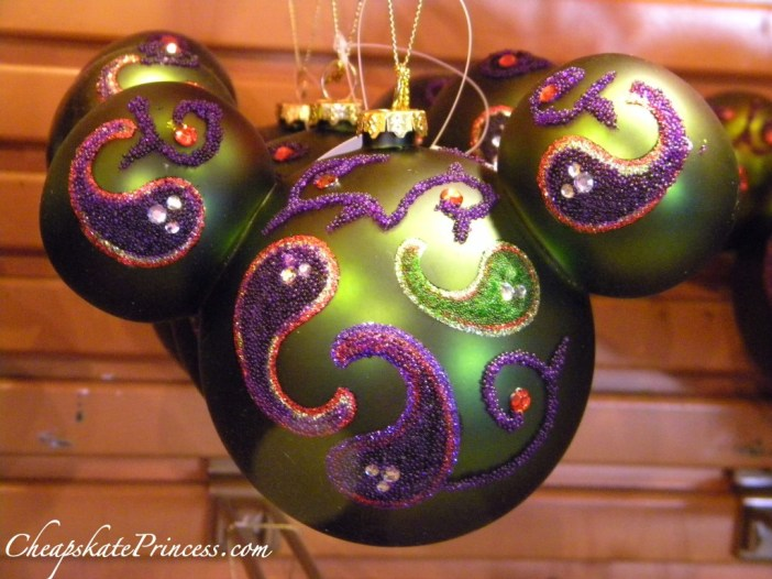 fancy Christmas decorations, fancy ornaments, Disney ornaments, Disney Christmas ornaments