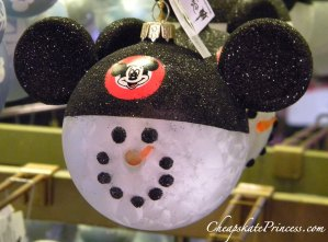 Mickey Mouse christmas ornament, Mickey Mouse snow man, Mickey Mouse Club, Christmas ornaments