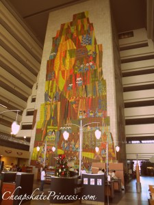 Why visit the Contemporary Resort, why visit the Contempo cafe at Disney World, Mary Blair tiles, Mary Blair mural