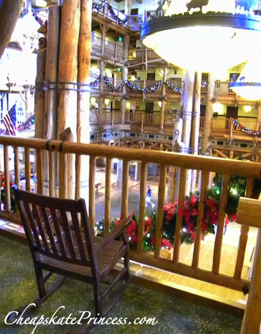 Disney World Wilderness Lodge rocking chair