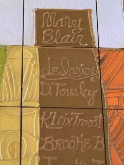 where to find Mary Blair's signature at Disney World, Mary Blair,