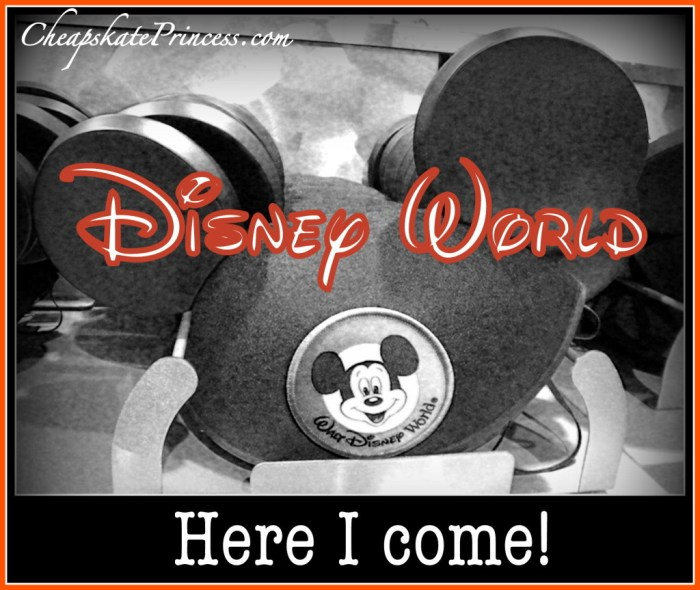 Disney World here I come, Going to Disney World, I'm going to Disney World