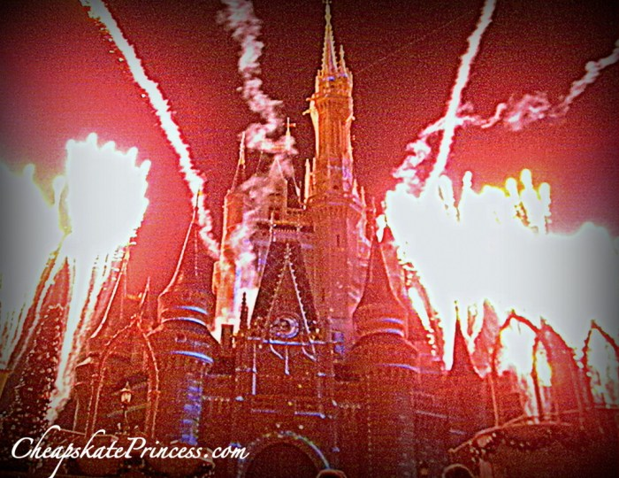 Disney fireworks, Cinderella Castle, Cinderella castle fireworks, photos of Disney World, how to save money at Disney World, 10 p.m. Disney fireworks