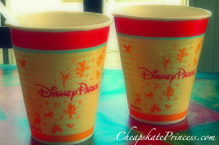 Free drink refills at Disney World theme parks