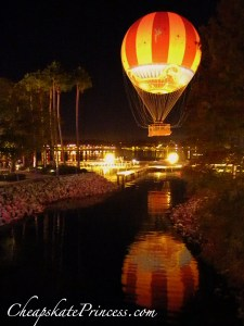 New Characters in Flight balloon at Downtown Disney