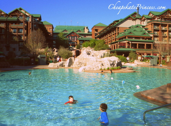swimming at Wilderness Lodge resort