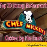 The Top 20 Best Disney Restaurants, So Says the Fans!