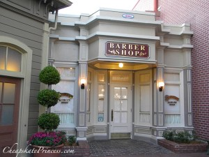 how much does a hair cut cost at Disney World, Harmony Barber Shop, Disney World Main Street hair cut, Disney World Main Street Harmony Barber Shop
