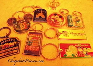 collecting Disney key chains, buying Disney key chains