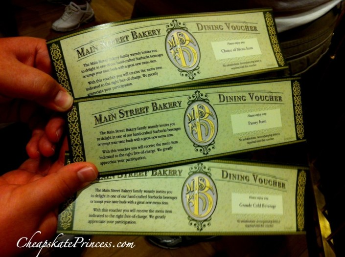 Disney meal dining voucher