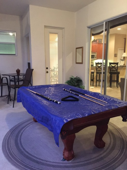 Reunion resort rental house pool table