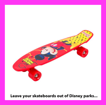 items to leave at home from a Disney parks vacation